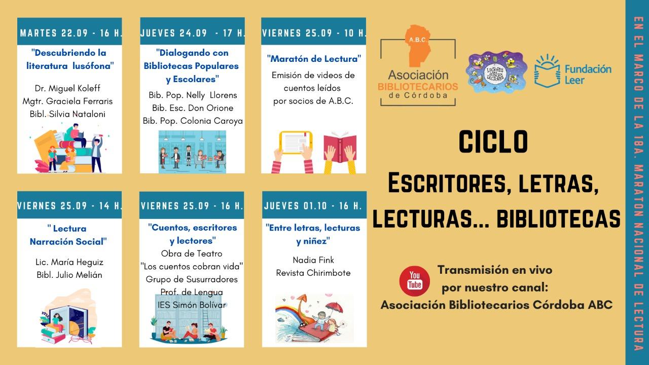 Ciclo Escritores, Letras, Lecturas… Bibliotecas.