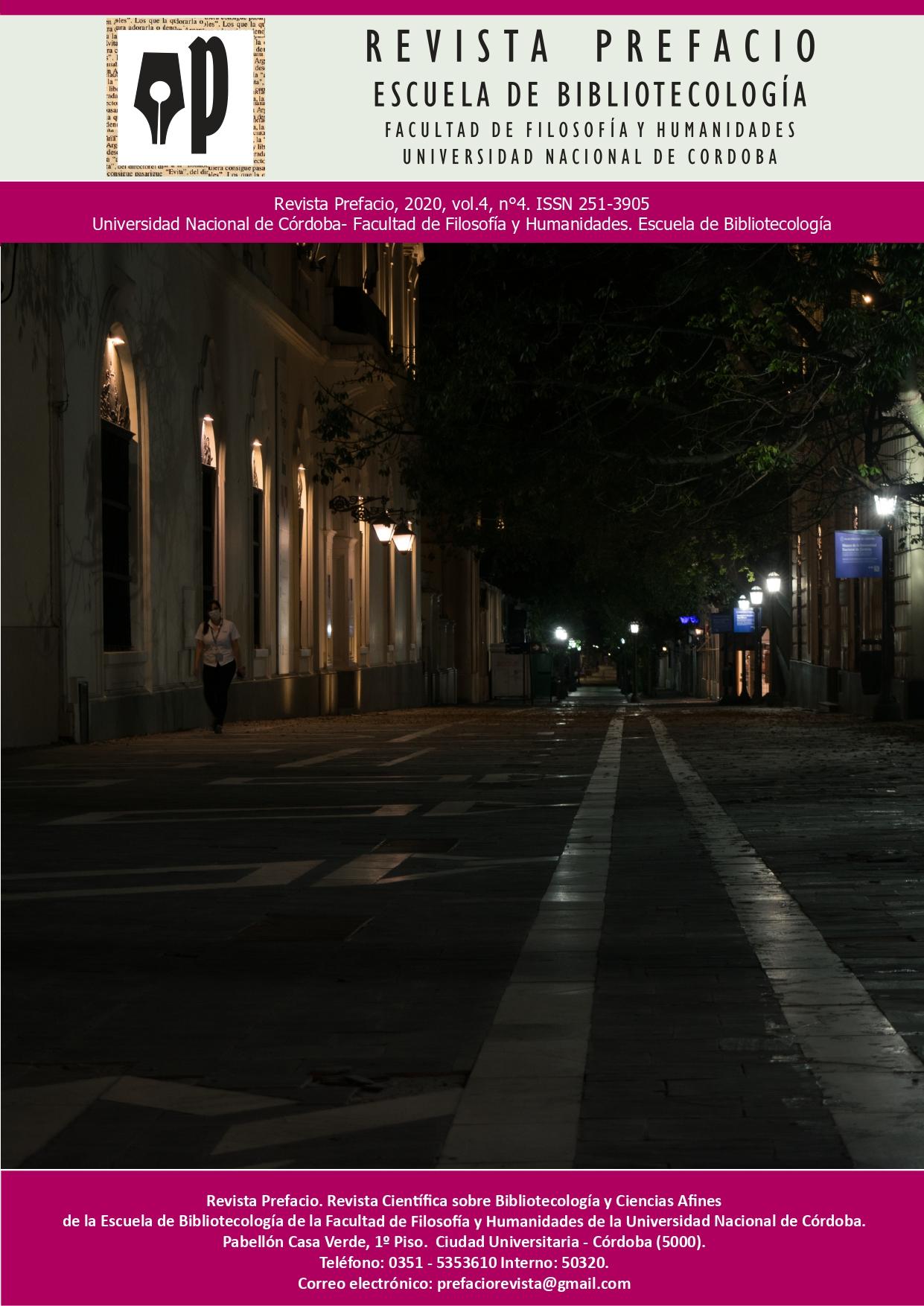 Salió el N° 4 de la Revista Prefacio. Escuela de Bibliotecología FFyH-UNC