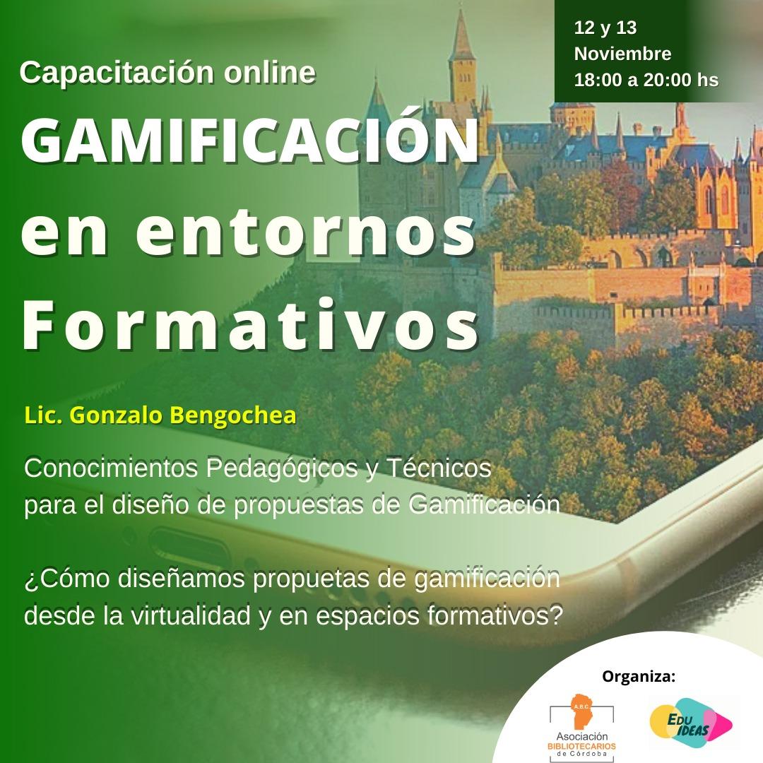 Gamificación en entornos formativos. 12 y 13 de noviembre 2020.