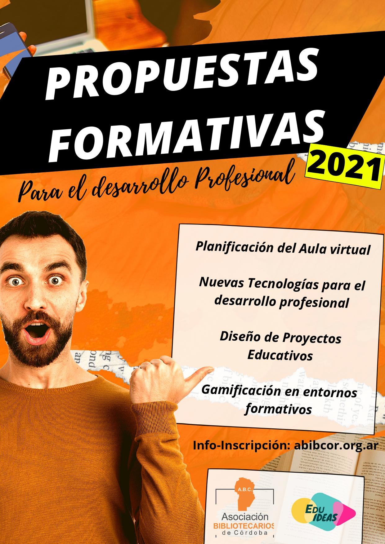 Propuestas Formativas 2021: para el desarrollo profesional