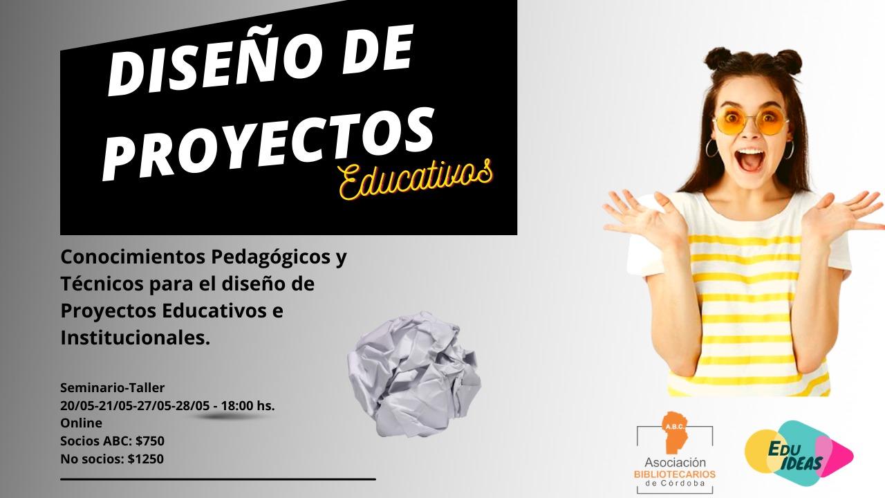 Sorteo Becas Capacitación Diseño de Proyectos Educativos ABC-Edu Ideas.